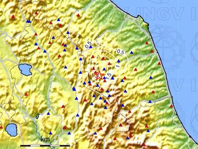 Scossa di terremoto nelle Marche, a Muccia 3.8