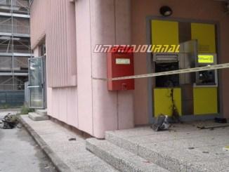 Fatto saltare nella notte il postamat delle Poste di Bastia Umbra