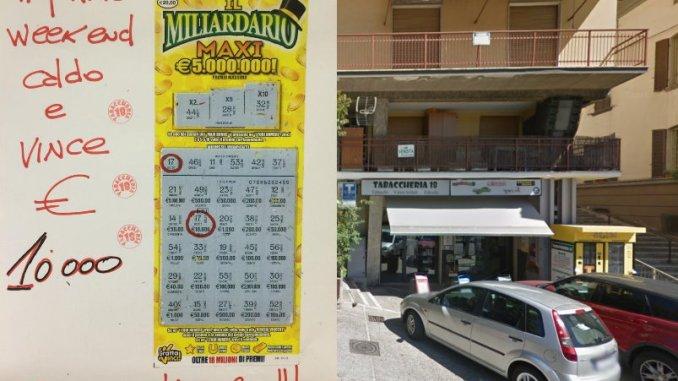 Vinti diecimila euro con Gratta e Vinci alla Tabaccheria 18 di Perugia