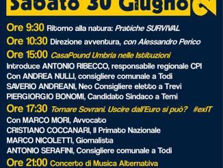 CasaPound Italia, festa regionale, 30 giugno, nella città di Jacopone