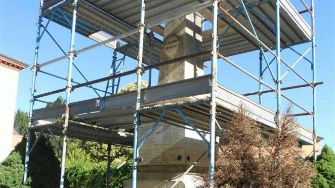 Restauro del monumento ai caduti a Ponte San Giovanni