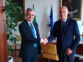 Prefetto Claudio Sgaraglia in visita dal Pocuratore generale Fausto Cardella