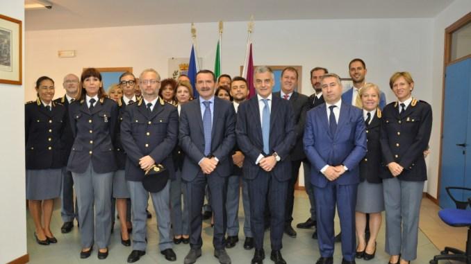 Prefetto di Perugia Claudio Sgaraglia, in visita alla questura di Perugia