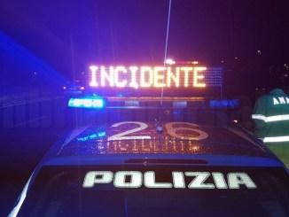 Incidente sulla E45 a San Giustino, 8 veicoli coinvolto, tutto bloccato