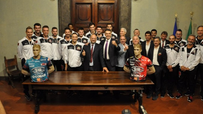 Sir Safety Umbria Volley, presentata a Palazzo Donini la squadra