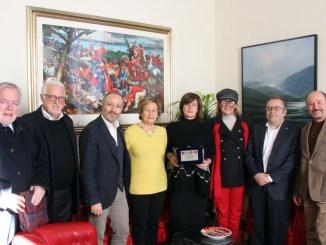 La Presidente dell'Assemblea Legislativ adell'Umbria, Donatella Porzi, ha ricevuto a Palazzo Cesaroni una delegazione dei Lions Club di Perugia