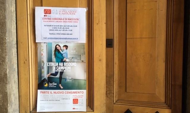 """Terni, Bertocco: """"Con il censimento facciamo un servizio per la comunità"""""""