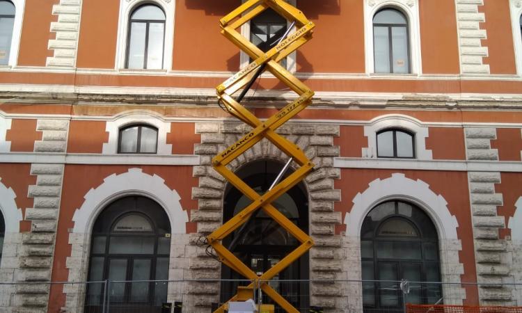 Biblioteca comunale Terni, iniziati i lavori di ripristino e restauro facciata