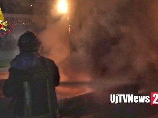 Incendio all'alba sulla E45, a fuoco rimorchio camion a Collestrada di Perugia