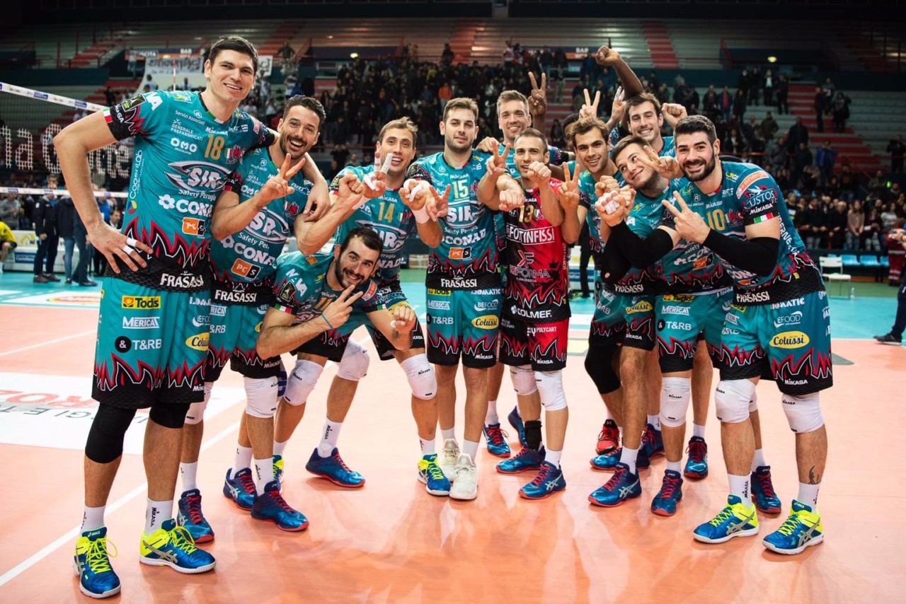 Sir Safety Conad Perugia volley batte BCC Castellana Grotte, 0 a 3 a Bari