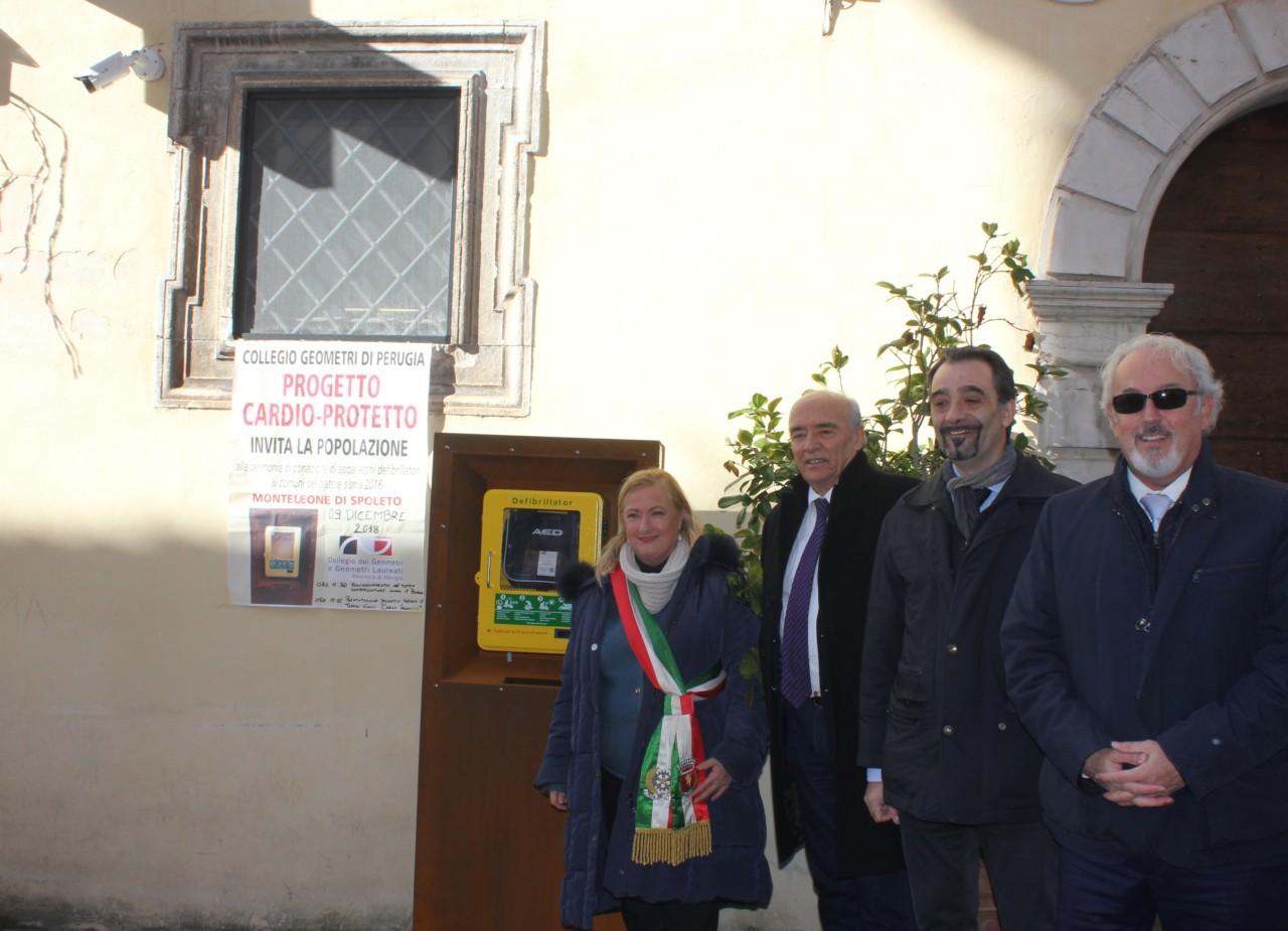 """E' Operativo Il Progetto """"Cantiere Cardioprotetto"""" al Comune di Monteleone di Spoleto"""