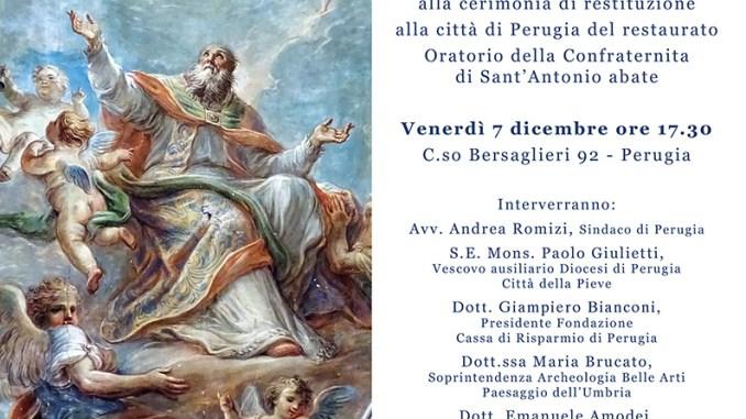 Restituzione alla Città di Perugia di un antico Oratorio