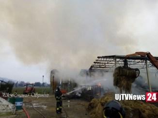 Incendio capannone agricolo a San Felice di Spello, grossi danni