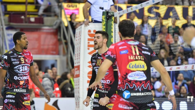 Volley, Sir Safety, Perugia vince la battaglia con Verona