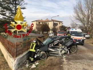 Incidente con ferito nei pressi di Spoleto, in località La Bruna