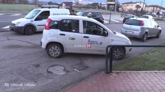 Assalto bancomat BNL Polizia e vigilanza auto polizia (2)