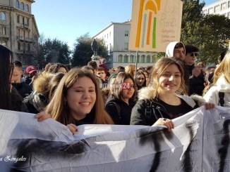 Corteo di protesta studentesco a Perugia contro il nuovo esame di Stato