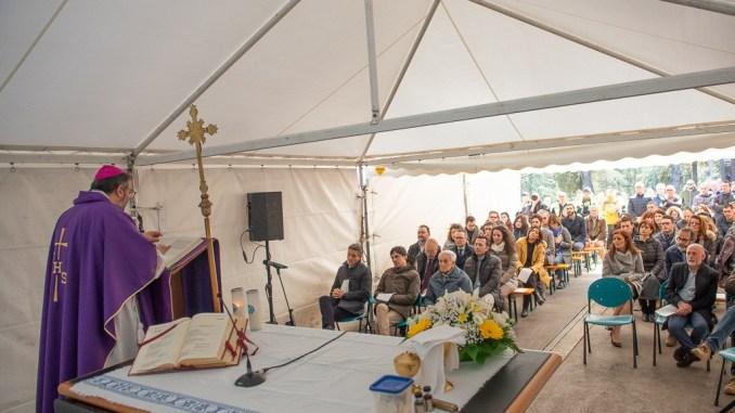 Arcivescovo Paolo Giulietti Santa Messa per lavoratori Gesenu