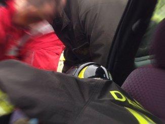 Auto fuoristrada incidente stradale sulla E45 a Città di Castello due i feriti
