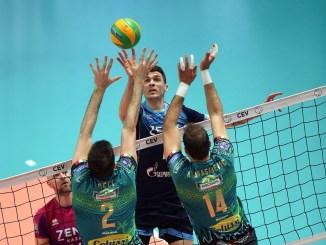 Volley, in finale di Champions ci la lo Zenit, grande lotta della Sir Colussi Sicoma