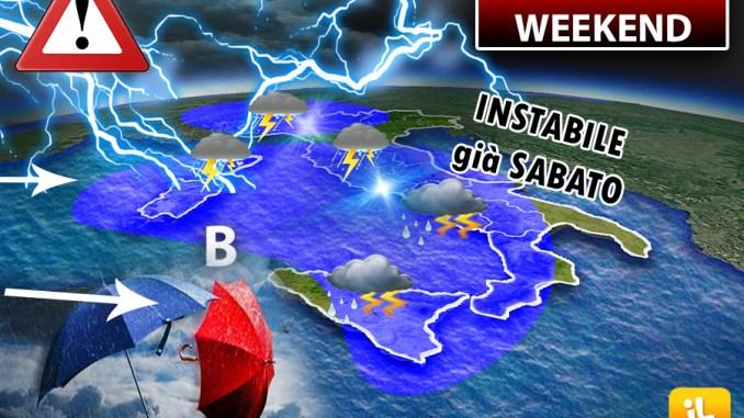 Meteo, domenica di pioggia su più di mezza Italia, ecco dove