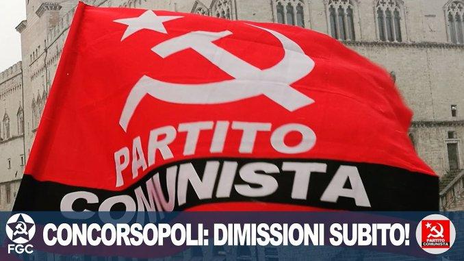 Dimissioni Marini, sabato 18 maggio, presidio dei Comunisti in piazza Italia