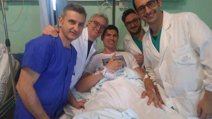 Campioni della pallavolo operati a Perugia da equipe di Ortopedia