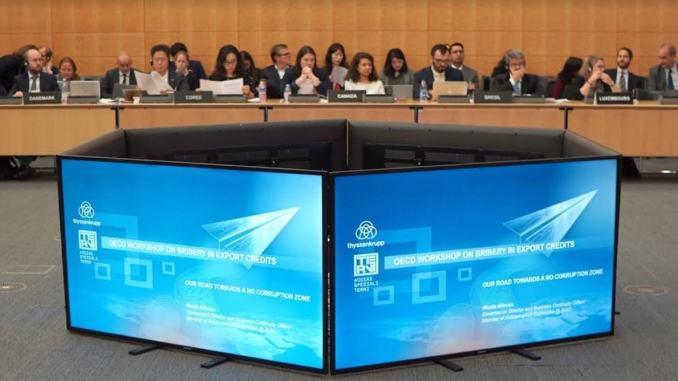 Corruzione e transazioni commerciali internazionali, Ast all'Ocse di Parigi