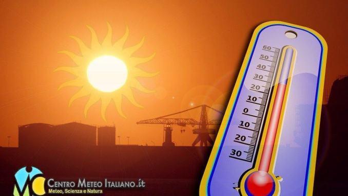 Temperature fino 40 gradi nelle prossime ore, prossimi giorni caldo torrido