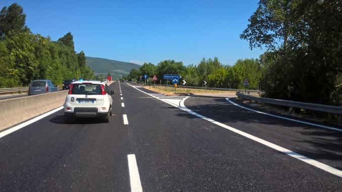 Avanzano i lavori di risanamento della pavimentazione sulla SS75, Perugia e Foligno