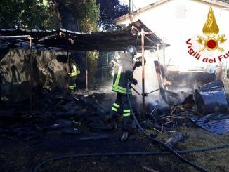 Incendio annesso agricolo a Orvieto, nessun ferito
