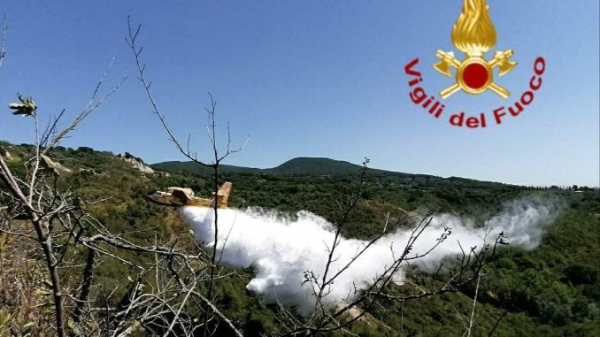 Incendio boschivo nelle campagne di Guardea nel Ternano
