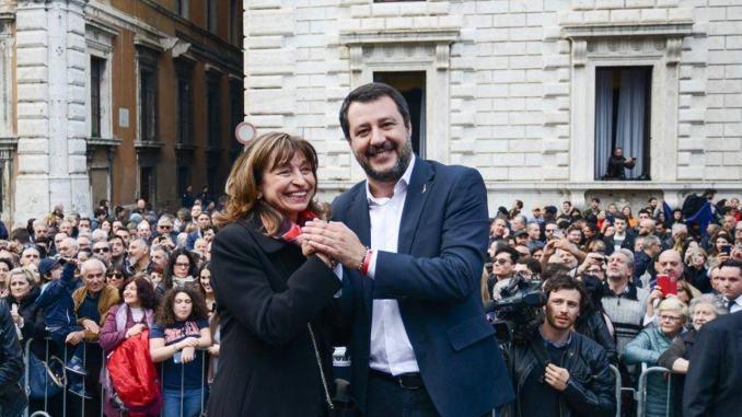 Donatella Tesei ha incontrato il leader della Lega Matteo Salvini