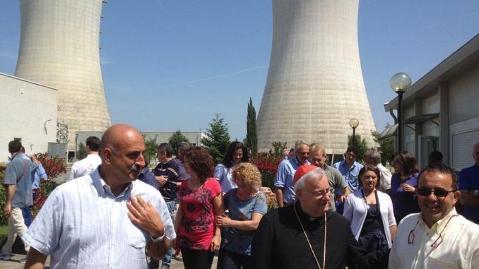 Cardinale Gualtiero Bassetti ai lavoratori della Centrale Enel di Pietrafitta