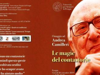 La Stranieri di Perugia, 26 settembre, omaggia Andrea Camilleri