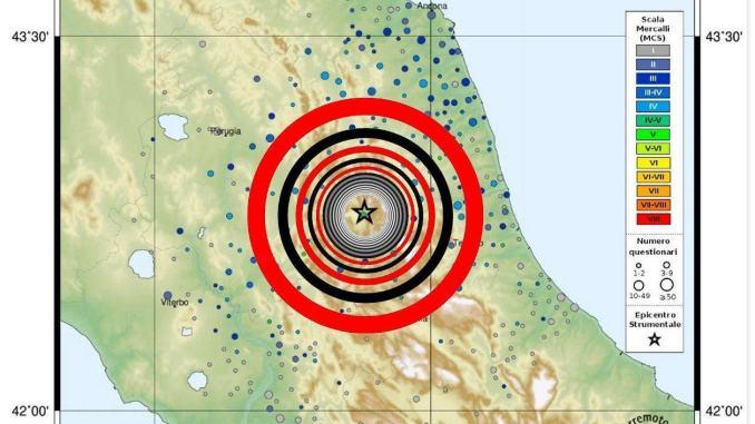 Scossa di terremoto questa mattina a Norcia magnitudo 3.0 dato Ingv