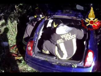 Incidente mortale a Città di Castello, auto in un burrone, muore un 53enne