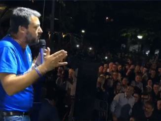 Regionali, Salvini ufficializza candidatura Tesei, lo ha detto ai giornalisti ad Amelia