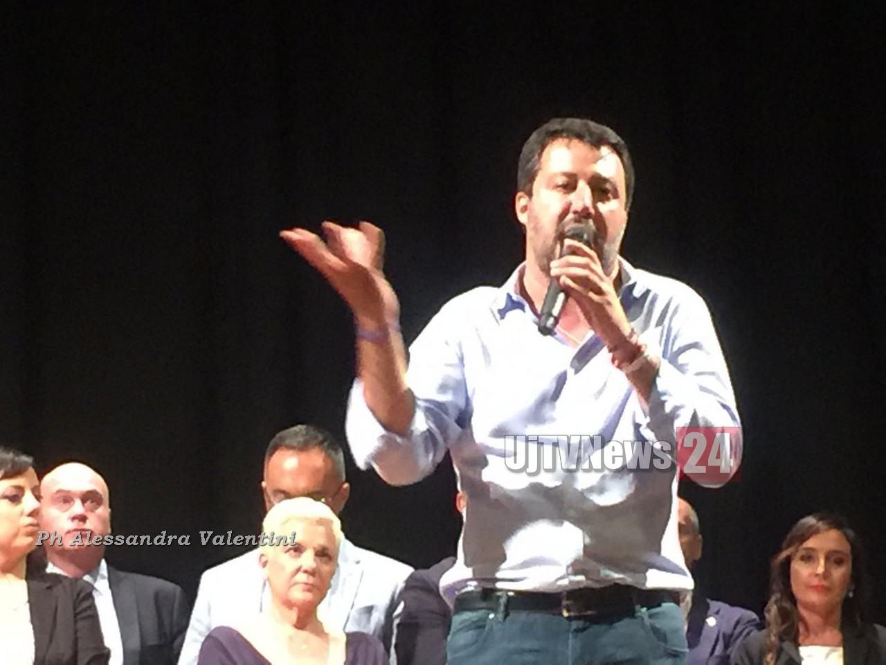 Matteo Salvini a Fabro e Orvieto, giovedì 17 ottobre