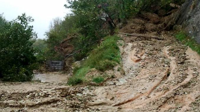 Bomba d'acqua a Ferentillo, Terria, Sambucheto, Macenano e Monterivoso