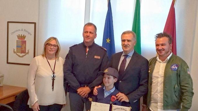 Bernardo, bimbo di 9 anni di Assisi, messaggio per agenti uccisi
