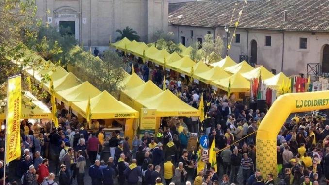 Terremoto prodotti Coldiretti a Roma, sos lavoro, centinaia in protesta
