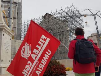 Ricostruzione e lavoratori edili, grido da Norcia, aprire i cantieri [FOTO]