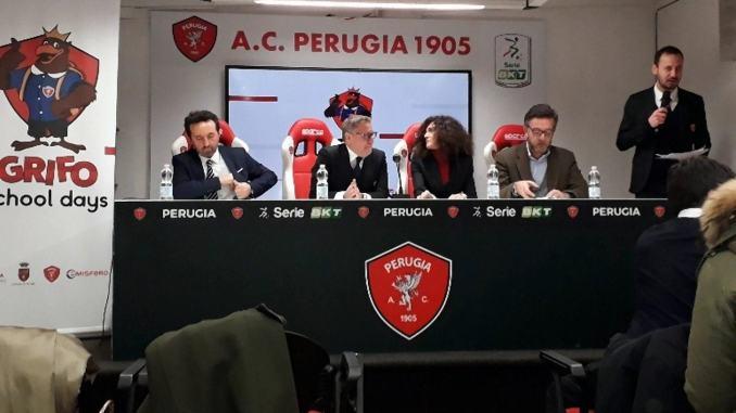 Presentato il progetto Grifo School Days Comune e Perugia Calcio