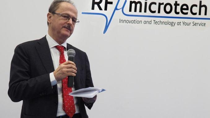 Premiato imprenditore umbro Roberto Sorrentino fondatore RF Microtech