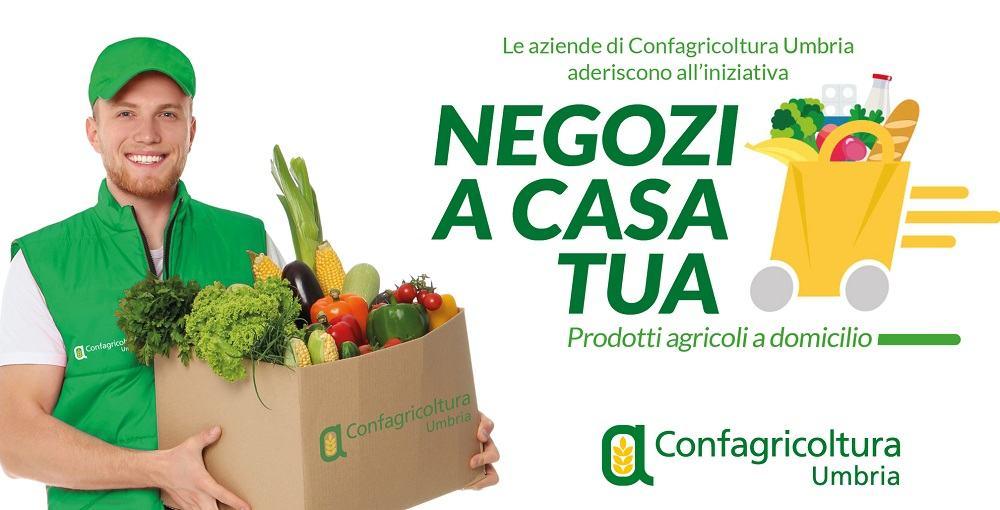 Negozi a casa tua, le aziende di Confagricoltura Umbria portano la spesa a domicilio