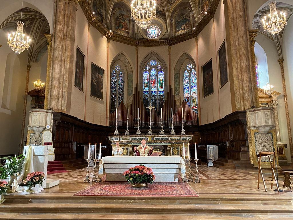 Cardinale Gualtiero Bassetti alla Messa in Coena Domini