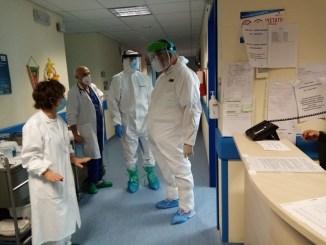 Commissario straordinario Silvio Pasqui visita Covid-19 Hospital