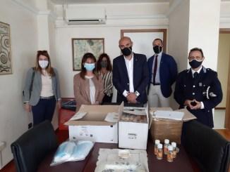 La Lega consegna mascherine e gel a Polizia Penitenziaria carcere di Capanne