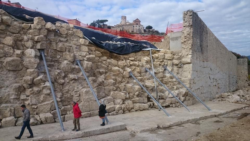 Amelia, parte progettazione ricostruzione Mura crollate